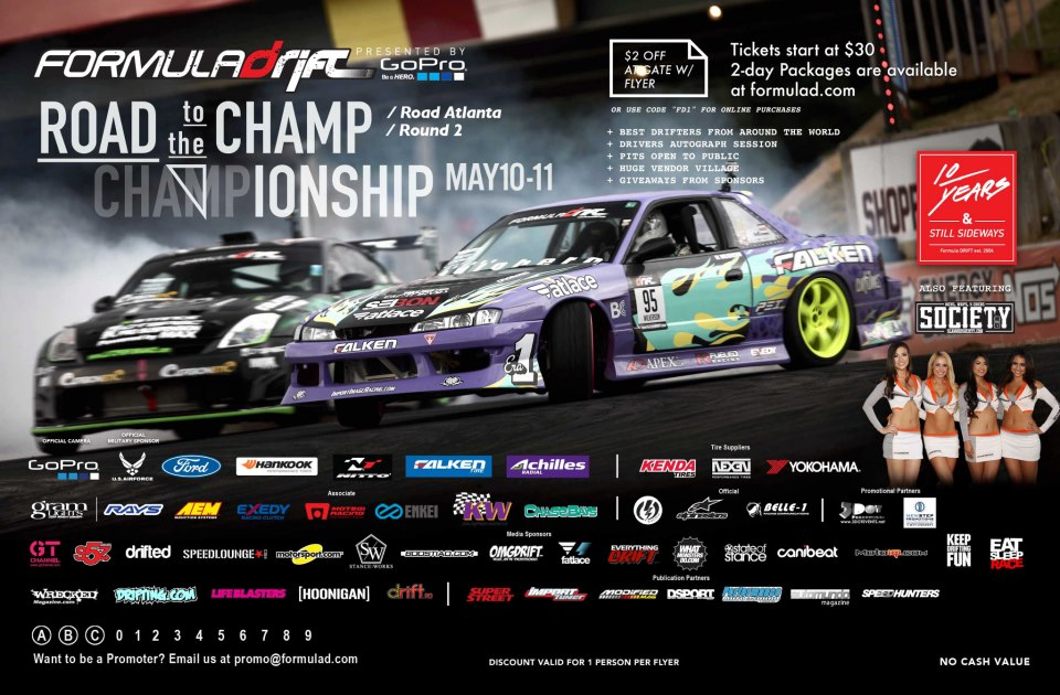 EN VIVO>> FORMULA DRIFT – ROUND 2 – ROAD ATLANTA